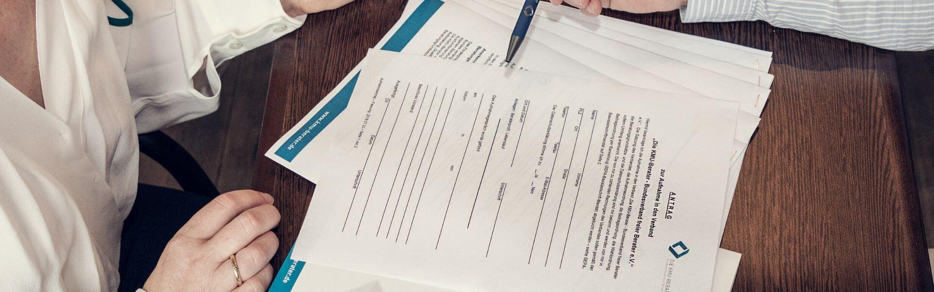 Mitgliedsantrag Bundesverband Die KMU Berater