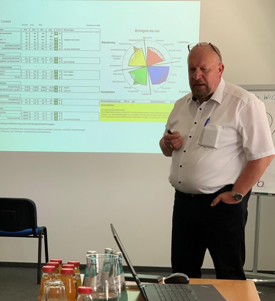 Axel Kunz bei der Vorstellung eines Strategietools