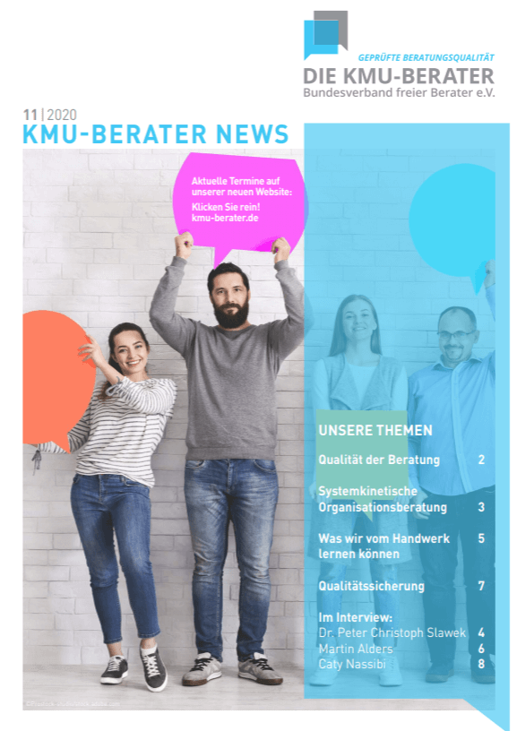 Titelblatt KMU-Berater-Magazin 11/2020